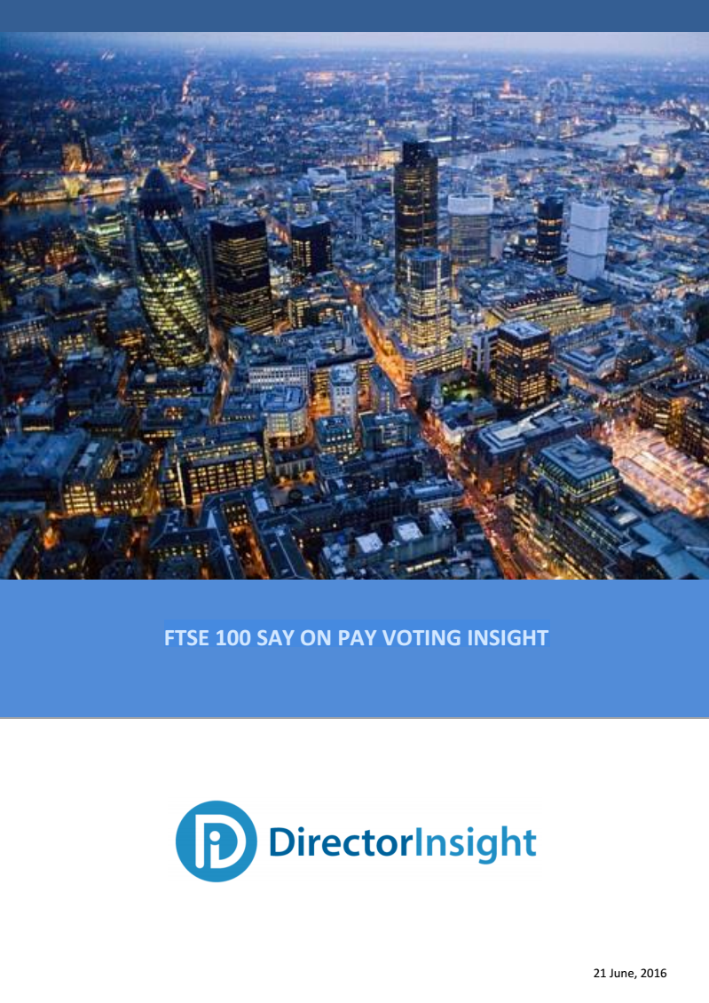 FTSE100 Say on Pay Voting Insight