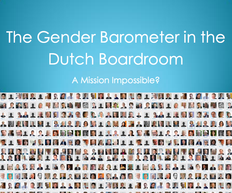 The Gender Barometer in the Dutch Boardroom