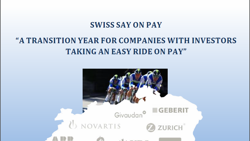 Swiss Say on Pay – A transition year for companies with investors taking an easy ride on pay