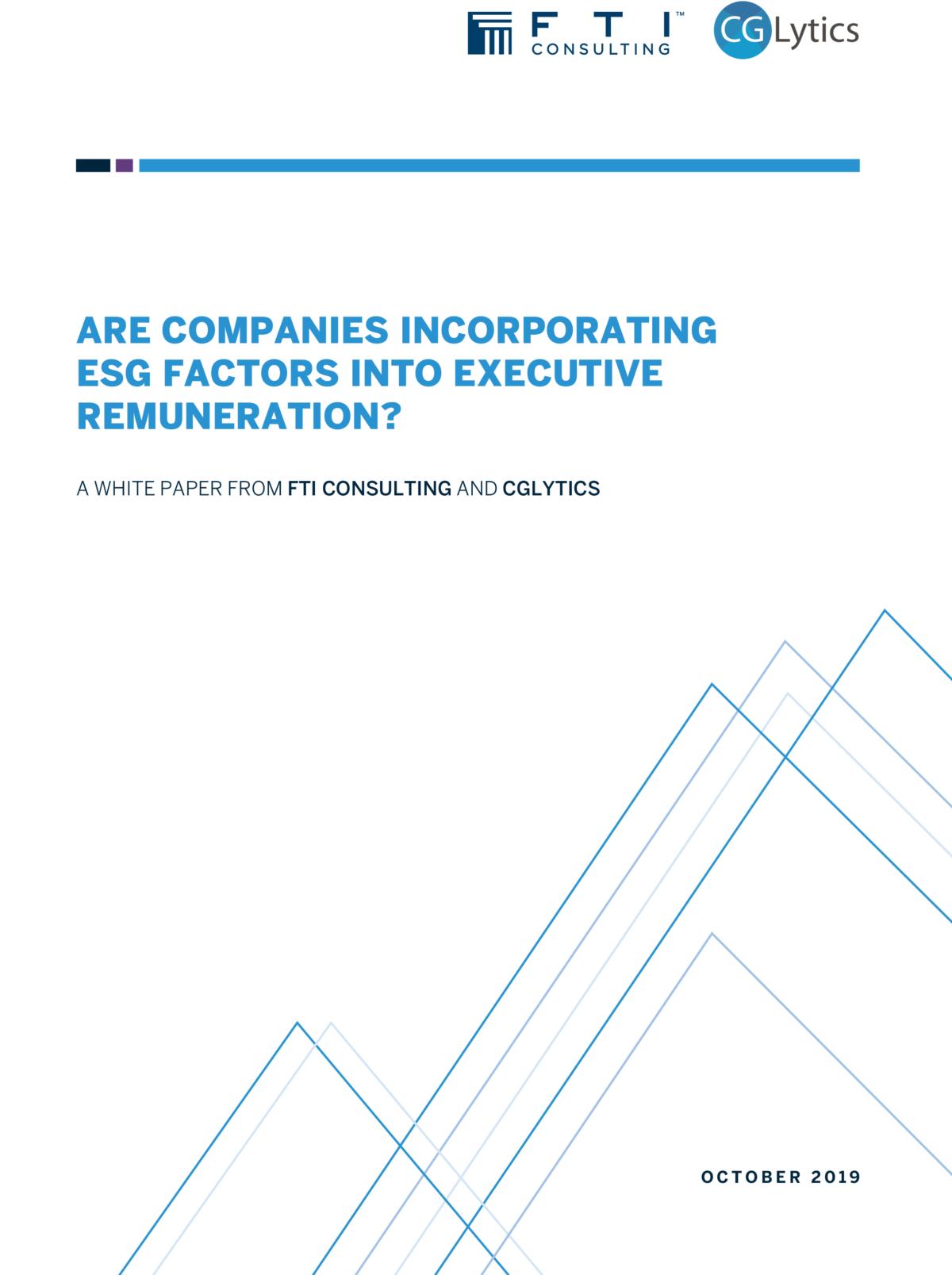 Are companies incorporating ESG factors into executive remuneration?